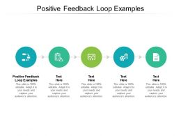 Positive Feedback Loop Examples Ppt Powerpoint Presentation Layouts Clipart Cpb