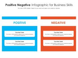 Positive Negative For Business Skills Infographic Template