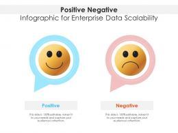Positive Negative For Enterprise Data Scalability Infographic Template
