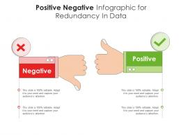 Positive Negative For Redundancy In Data Infographic Template