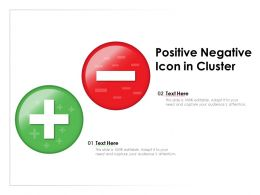 Positive Negative Icon In Cluster