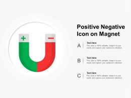 Positive Negative Icon On Magnet