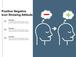 Positive Negative Icon Showing Attitude