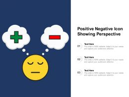Positive Negative Icon Showing Perspective