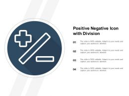 Positive Negative Icon With Division