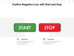 Positive Negative Icon With Start And Stop
