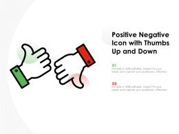 Positive Negative Icon With Thumbs Up And Down