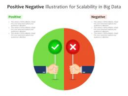 Positive Negative Illustration For Scalability In Big Data Infographic Template