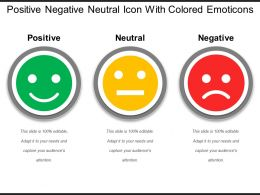Positive Negative Neutral Icon With Colored Emoticons