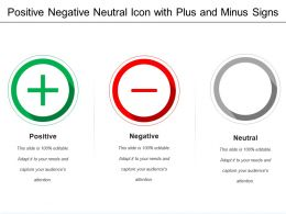 Positive Negative Neutral Icon With Plus And Minus Signs