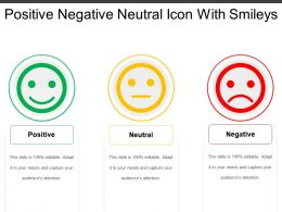 Positive Negative Neutral Icon With Smileys