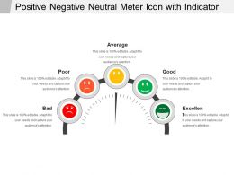 Positive Negative Neutral Meter Icon With Indicator