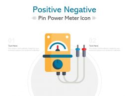 Positive Negative Pin Power Meter Icon