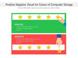 Positive Negative Visual For Future Of Computer Storage Infographic Template