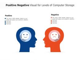 Positive Negative Visual For Levels Of Computer Storage Infographic Template