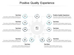 Positive Quality Experience Ppt Powerpoint Presentation Infographic Template Information Cpb