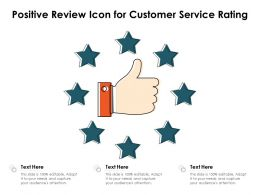 Positive Review Icon For Customer Service Rating