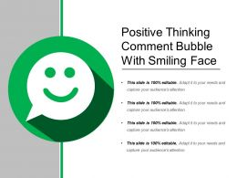 Positive Thinking Comment Bubble With Smiling Face