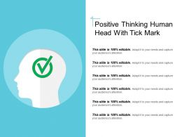 Positive Thinking Human Head With Tick Mark