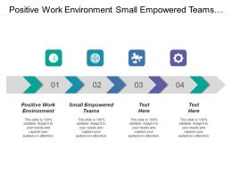 Positive Work Environment Small Empowered Teams Intelligent Data