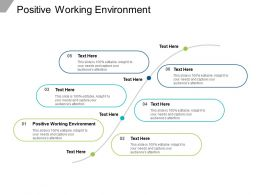 Positive Working Environment Ppt Powerpoint Presentation Portfolio Graphics Cpb