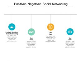 Positives Negatives Social Networking Ppt Powerpoint Presentation File Deck Cpb