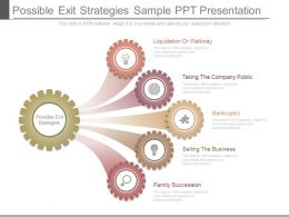 Possible Exit Strategies Sample Ppt Presentation