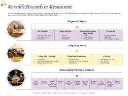 Possible Hazards In Restaurant Ppt Powerpoint Presentation Show Design Templates