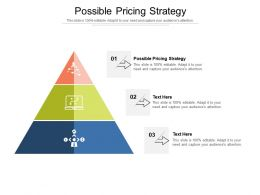 Possible Pricing Strategy Ppt Powerpoint Presentation Outline Background Designs Cpb