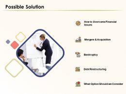 Possible Solution Bankruptcy Ppt Powerpoint Presentation Slide Download