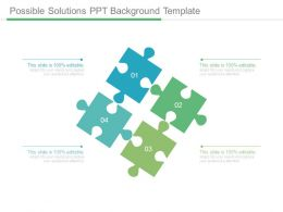Possible Solutions Ppt Background Template