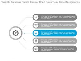 Possible Solutions Puzzle Circular Chart Powerpoint Slide Backgrounds