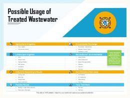 Possible Usage Of Treated Wastewater Highway Ppt Powerpoint Presentation Model Examples