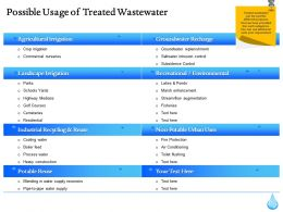 Possible Usage Of Treated Wastewater Ppt Gallery Inspiration