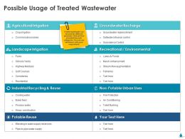 Possible Usage Of Treated Wastewater Ppt Inspiration
