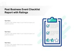 Post Business Event Checklist Report With Ratings