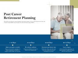 Post Career Retirement Planning Pension Plans Ppt Powerpoint Presentation Brochure
