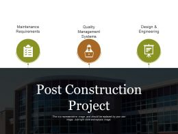 Post Construction Project Powerpoint Slide Designs