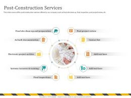 Post Construction Services As Built M701 Ppt Powerpoint Presentation Ideas Gallery