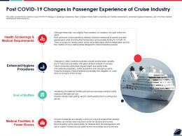 Post COVID 19 Changes In Passenger Experience Of Cruise Industry Ppt Topics