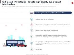 Post Covid 19 Strategies Create High Quality Bus And Transit Infrastructure Ppt Powerpoint Samples