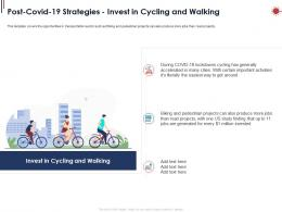 Post Covid 19 Strategies Invest In Cycling And Walking Ppt Powerpoint Presentation Icon Graphic Tips