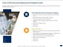 Post COVID Recovery Measures By Retailers Contd Ppt Powerpoint Presentation Show Design Ideas
