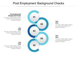 Post Employment Background Checks Ppt Powerpoint Presentation Outline Samples Cpb