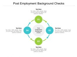 Post Employment Background Checks Ppt Powerpoint Presentation Professional Elements Cpb