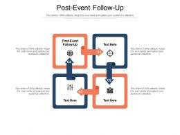 Post Event Follow Up Ppt Powerpoint Presentation Gallery Smartart Cpb