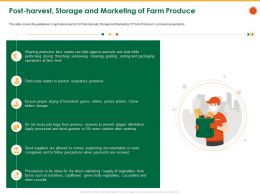 Post Harvest Storage And Marketing Of Farm Produce Pulses Ppt Powerpoint Presentation Icon Show