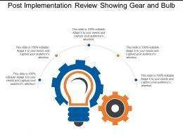 Post Implementation Review Showing Gear And Bulb