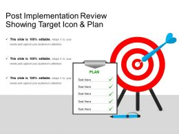 Post Implementation Review Showing Target Icon And Plan