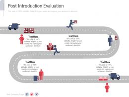 Post Introduction Evaluation New Service Initiation Plan Ppt Infographics